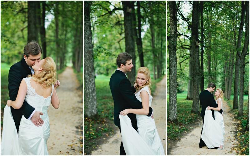Vestuvinė fotosesija miške