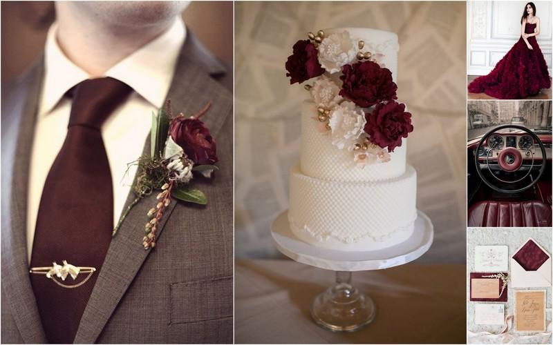 Vestuvių spalvos - Marsala