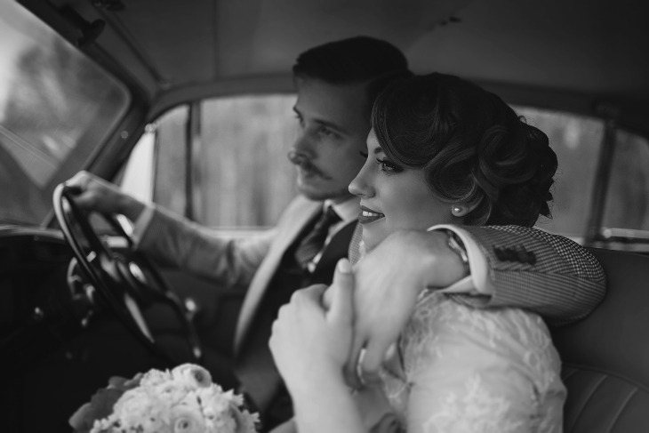 Retro vestuvės Klaipėdoje