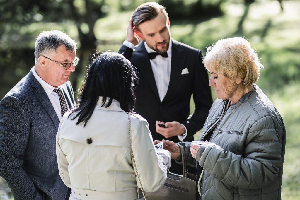 Vestuvių popietė parke